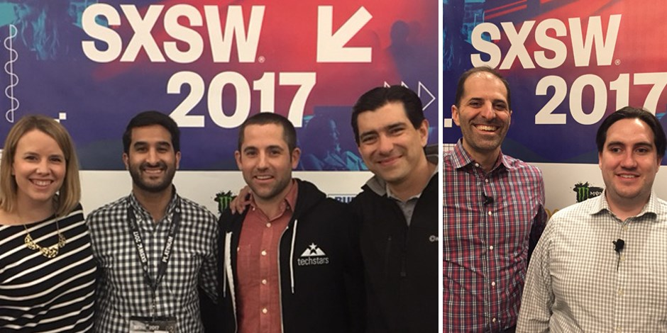 Target presenters smile in front of SXSW 2017 banners
