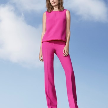 Matching hot pink top and pants from the Victoria Beckham for Target collection