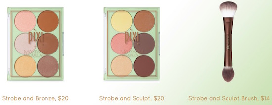 Maryam Maquillage products, Strobe and Bronze, Strobe and Sculpt and Strobe and Sculpt Brush