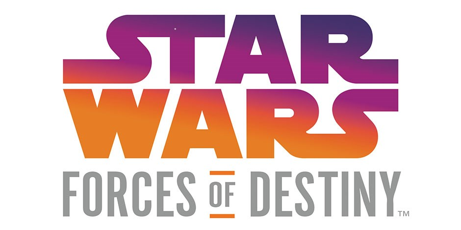 The Star Wars Forces of Destiny logo on a white background
