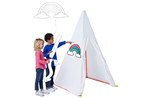 Two kids plan a rainbow for their blank kit cover.  sc 1 st  Target Corporate & Set Sail for Active Play With New Antsy Pants Kits Only At Target