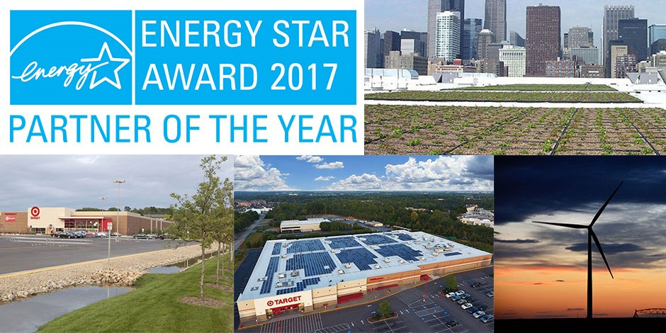 Sustainable features at Target stores and the ENERGY STAR Partner of the Year logo