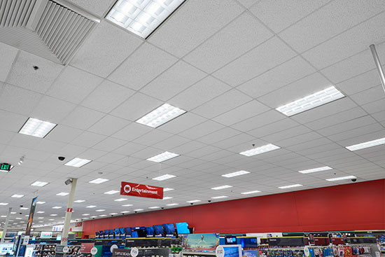 lights on the store ceiling