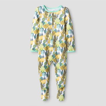 Yellow and green sleep onesie
