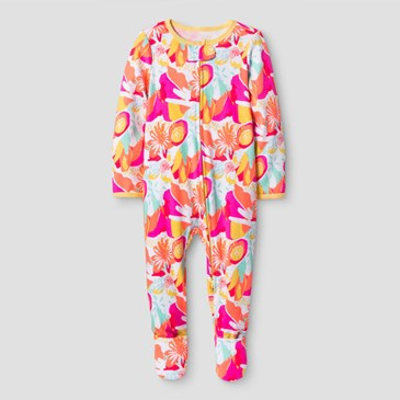 Pink and orange sleep onesie