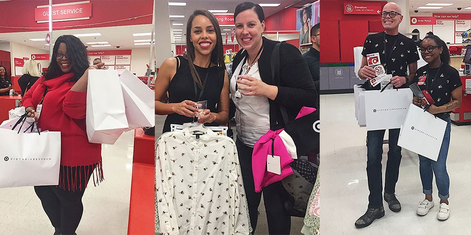 39d0f867c96 Guests shopping in store at the Victoria Beckham for Target launch
