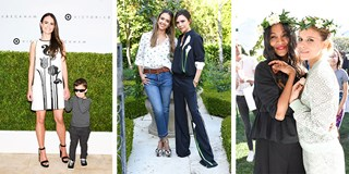 Jordana Brewster, Jessica Alba, Victoria Beckham, Zoe Saldana and Kate Mara at the launch event
