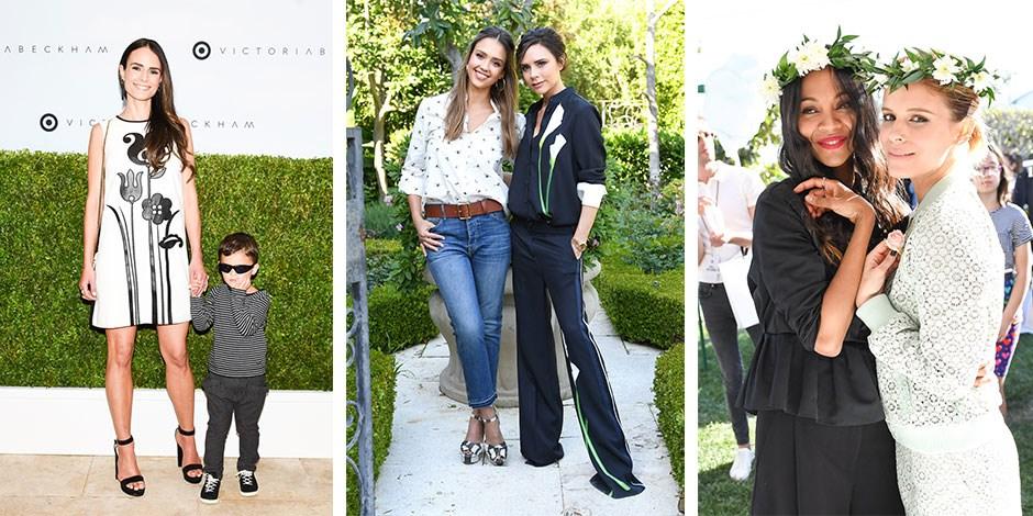 9eccf87d9c48f9 Jordana Brewster, Jessica Alba, Victoria Beckham, Zoe Saldana and Kate Mara  at the