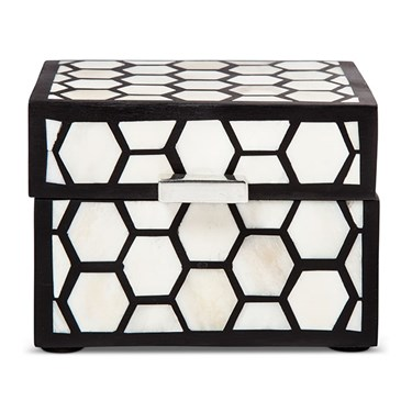 Black and white pattern box