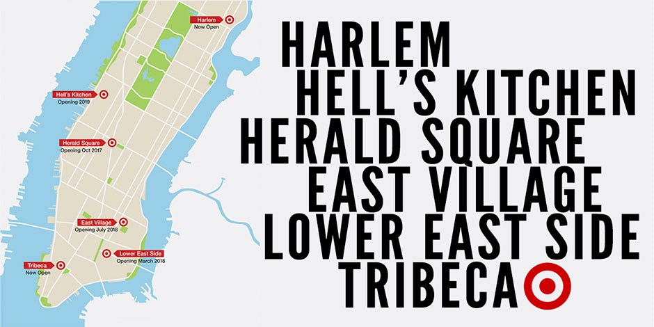 Lower East Side New York Map.A Bigger Bite Of The Big Apple See What Target Has In Store For New