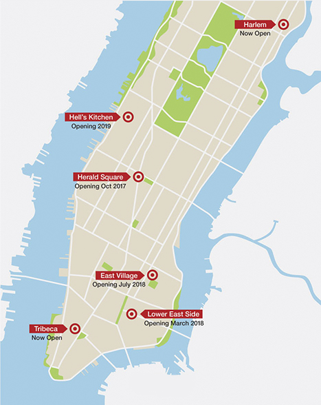 Map Of New York Harlem.A Bigger Bite Of The Big Apple See What Target Has In Store For New