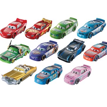 A set of 11 die-cast Cars 3 character cars