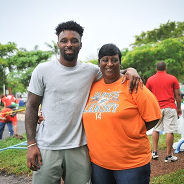 Jarvis Landry and his mom, Dietra