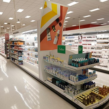 The revamped Beauty aisles