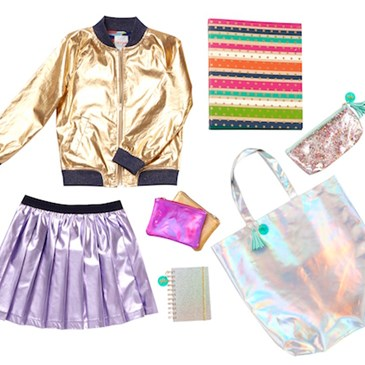 Iridescent clothing and accessories