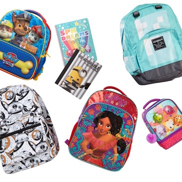 an array of new backpacks