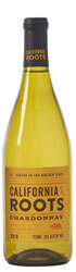 A bottle of California Roots chardonnay