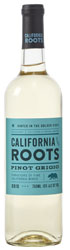 Bottle of California Roots pinot grigio