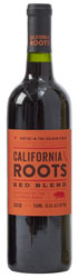 Bottle of California Roots red blend