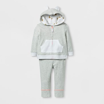 Baby 2 piece Stripe Hoodie and Jogger Set