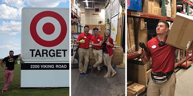 Target interns and teammates on the job at their stores