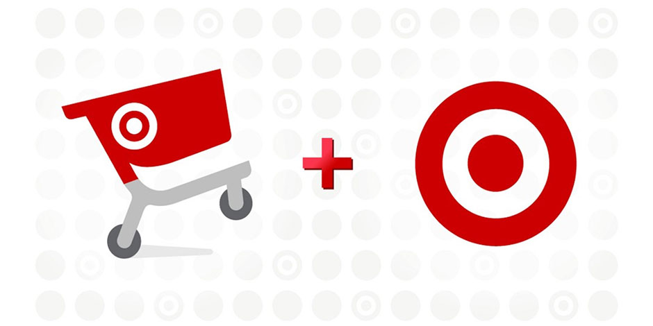 The Cartwheel logo + the red Bullseye logo on a white background with gray dots
