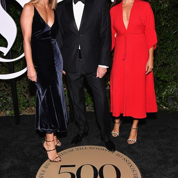 Michelle Wlazlo, Mark Tritton and Noria Morales arriving at the BoF 500 gala.