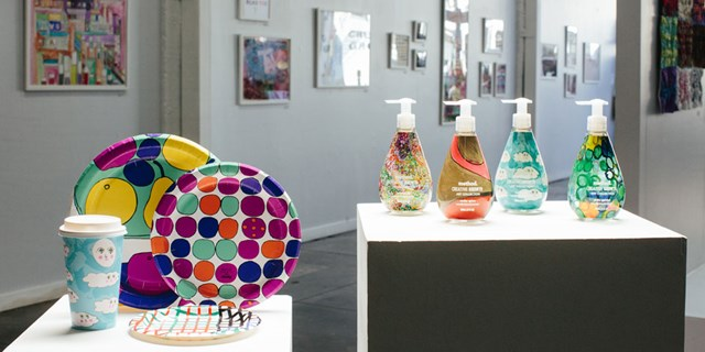 Cheeky and Method products are displayed in an art gallery setting