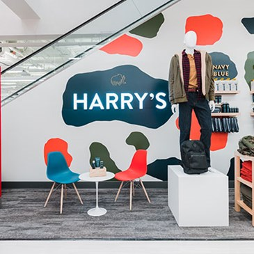 The Harry's Lounge and grooming display