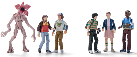 Six Stranger Things collectible figures
