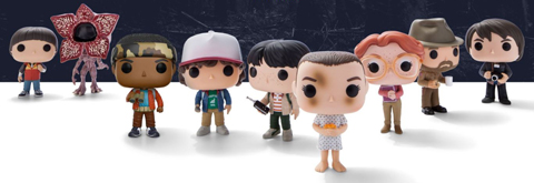 Nine Stranger Things Funko characters