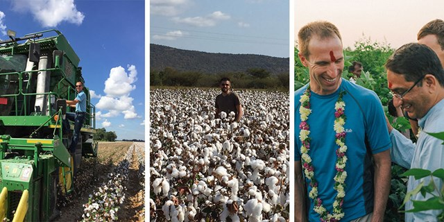 Target team members touring cotton farms around the world