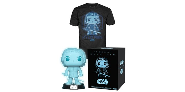 Target-exclusive Kylo Ren Funko figure, box and t-shirt