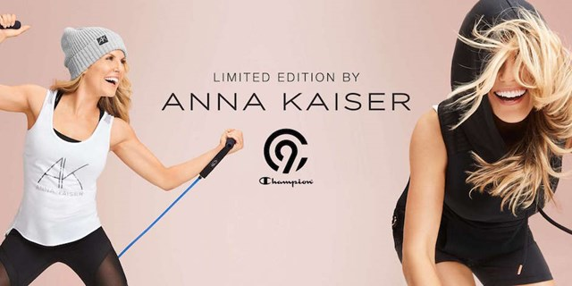 Anna Kaiser showing off her new collection at Target