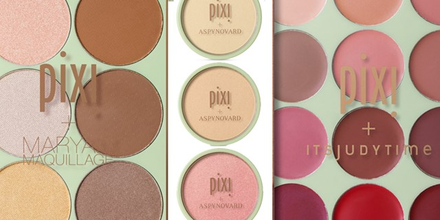 Collage of product images from the new PIXI spring collection