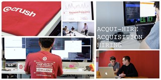 A collage of images from the Acquihire office