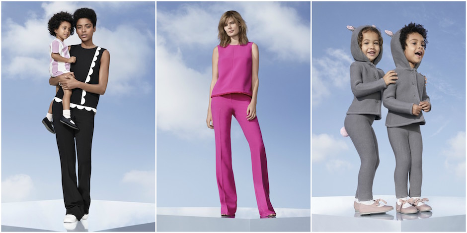 Collaged outfit selects from the Victoria Beckham for Target look book
