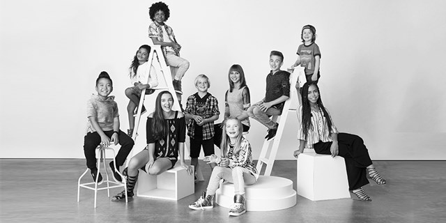 The child creators of Target's new clothing line, Art Class