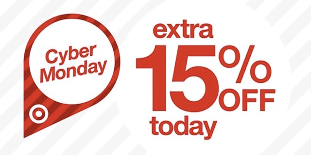Cyber Monday, extra 15% off today