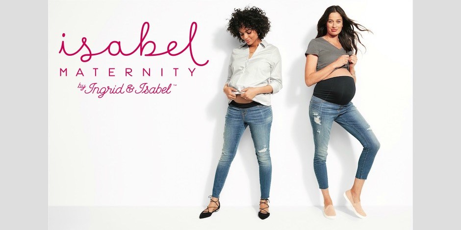 Pregnant women showing off Isabel Maternity by Ingrid and Isabel styles