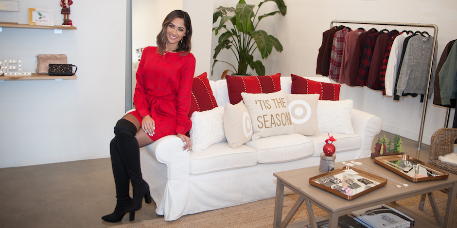 Karla Birbragher at a Target holiday fashion event