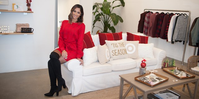 Karla Birbragher at a Target holiday styling event