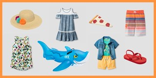 Product collage of fun summer items