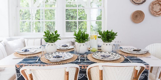 Nate Berkus' finished Father's Day tablescape
