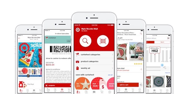 Images from the new Target app