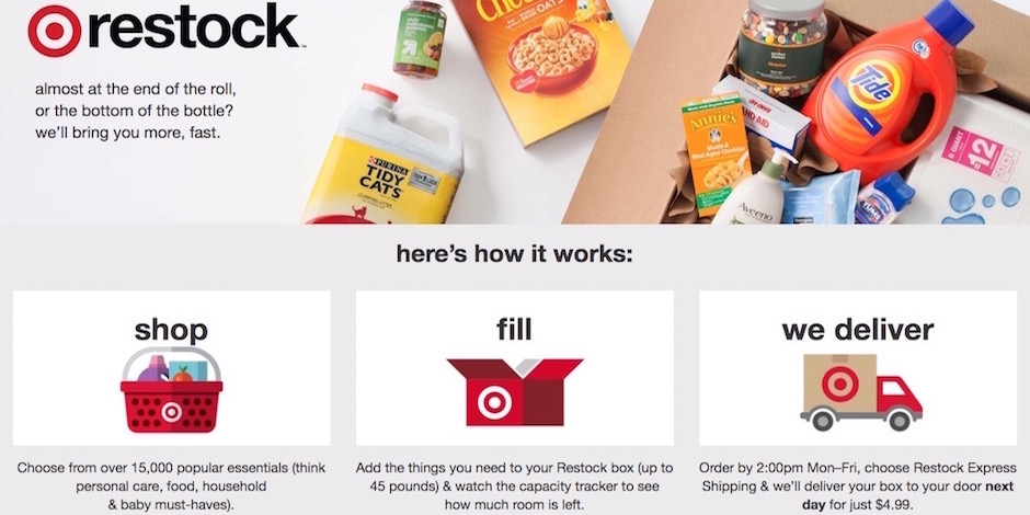 Target.com restock landing page, explaining how the process works