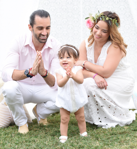 Baby Alaia with her parents
