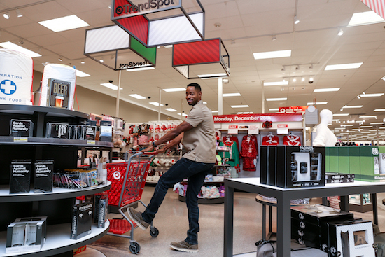 Jay Ellis shopping at Target