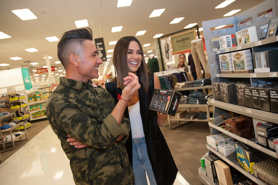 Jorge and Karla shopping gifting items at Target