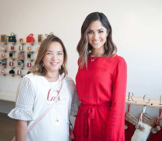 Karla Birbagher and Adamari Lopez at the Target holiday fashion event